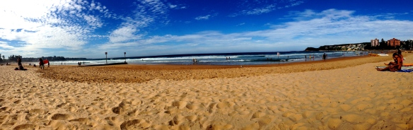 Manly Beach in Northern Sydney rivals in popularity to Bondi