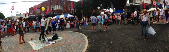"""The Spot"" Food Festival was a short walk up the road from Coogee"