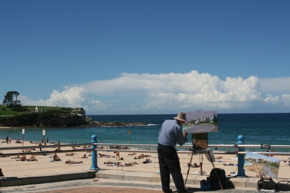 Painter at Coogee Beach, NSW
