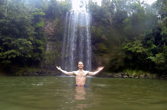 Paused to swim at Milla Milla Falls enroute to Port Douglas.