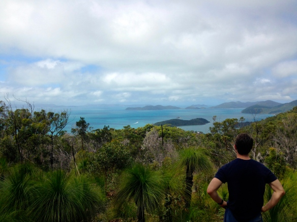 View of the Whitsundays atop Mount Rooper.
