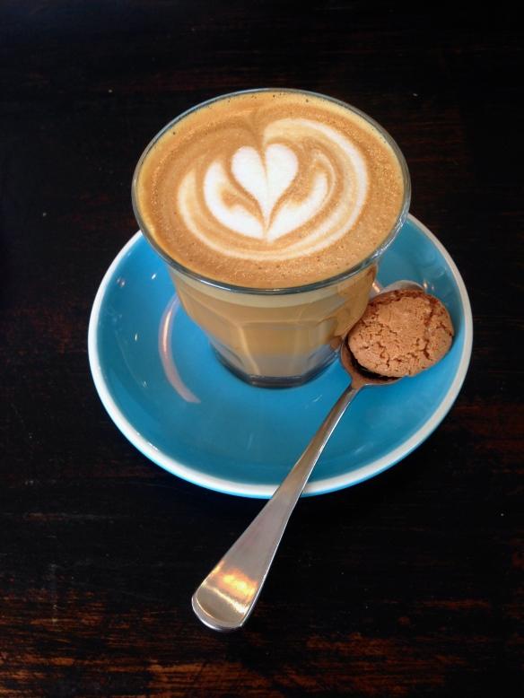 Almond Milk latte from il Piccolo Posto, our favorite St. Kilda  cafe.