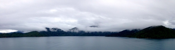 Departing Picton through the Queen Charlotte Sound.
