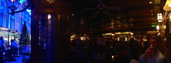 Live music at The Pig & Whistle Pub onboard the ship.