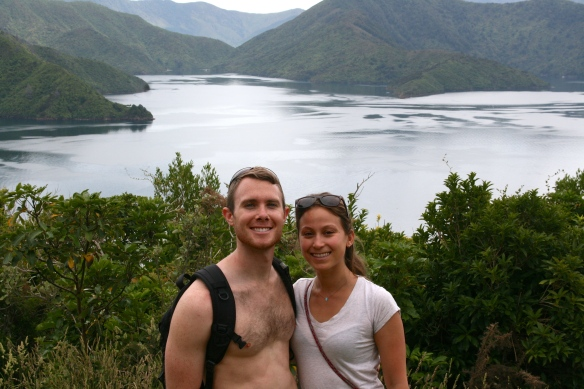 Hiking along the Queen Charlotte Sound in Picton.