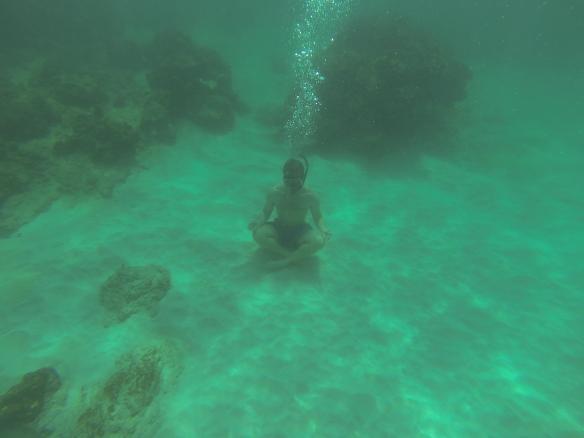 Underwater meditation.