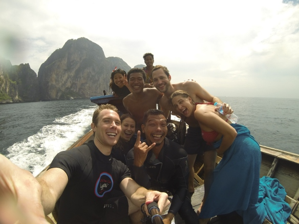 Our crew during two incredible dives off the west short of Phi Phi Leh.