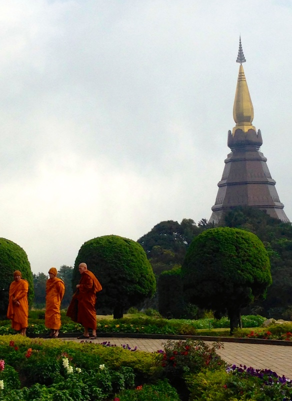 The King's Pagoda & monks