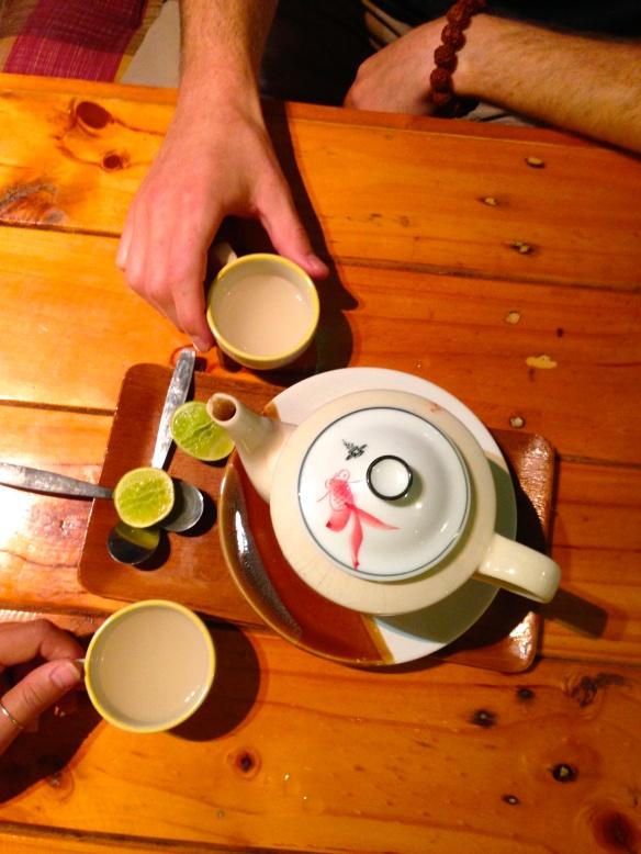 Ginger lime honey tea