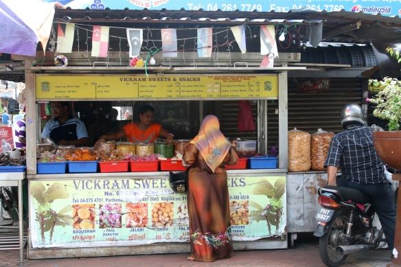 Local vendors in Little India.
