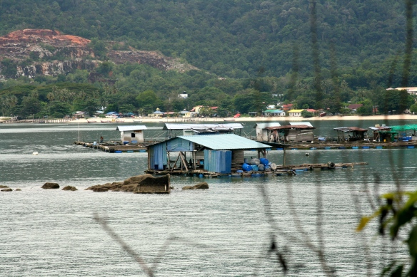 Malaysian fish farms.