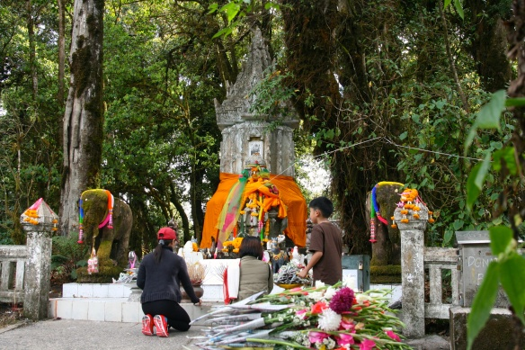 Shrine at the highest peak in Thailand