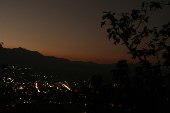 Overlooking Pai at dusk.