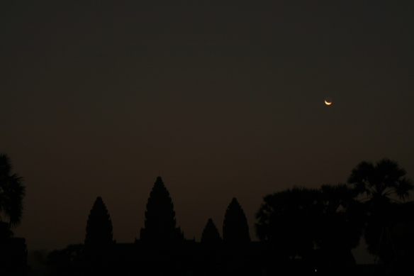 The majestic Angkor Wat just before sunrise